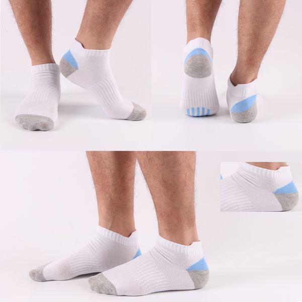 Hot Sale Man's Boat Socks Short Tube Socks male anti-odor breathable protect the heel sox Invisible nonslip ankle socks free shipping
