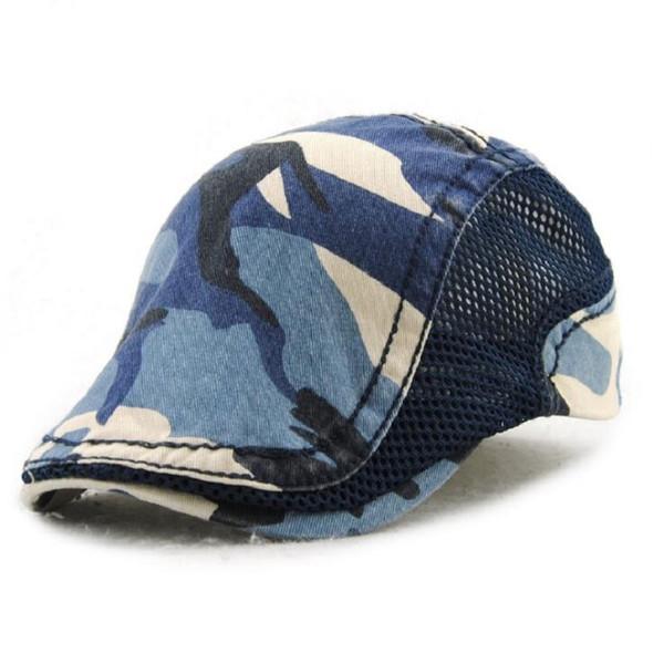 Fashion Camouflage Visors Beret Cap Cotton Hats for Men and Women Sun hat Planas Flat Caps Unisex Adjustable Berets Wholesale
