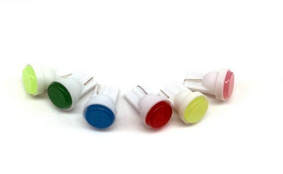 T10 W5W 194 Bombilla LED Luz de automóvil Lámpara auto Placa de matrícula Luz de marcador lateral Blanco Azul Rojo Color 0.6W 12V