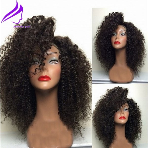 Top Quality kinky Curly Synthetic Lace Front Wigs For Black Women African American Wigs Synthetic Lace Front Wig Heat Resistant