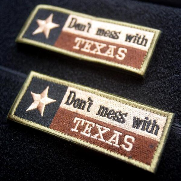 best selling VP-150 high quality Don't mess with Texas military Patches with magic stick embroidery iron on patches Outdoor Army morale patch