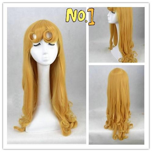 Сю Чжи Мэй горячие продажа Спящая красавица Принцесса Аврора парик длинные вьющиеся Золотой Аниме косплей парик / парики экспортируется в Европу
