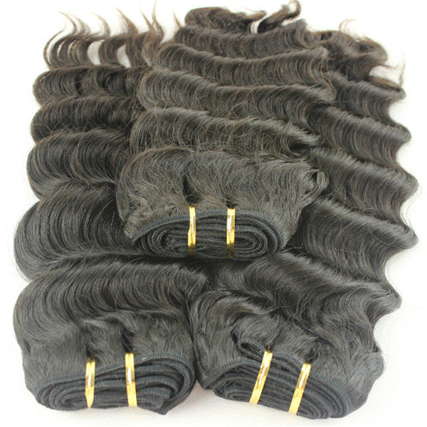 3Pcs/Lot India Human Hair Deep Wave Unprocessed Hair Weaves for white women Shipping fast