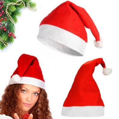best selling Red Santa Claus Hat Ultra Soft Plush Christmas Cosplay Hats Christmas Decoration Adults Christmas Party Hats CCA7310 300pcs