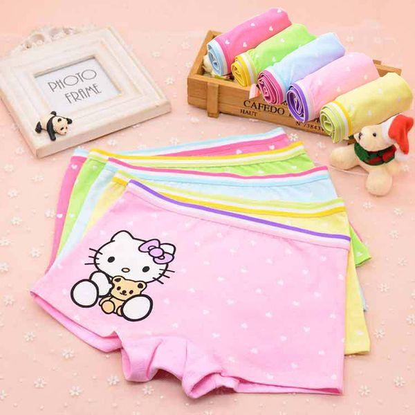 top popular Baby Girls Panties Cartoon Hello Kitty Briefs Children Cotton Shorts Underpants Boxers For Kids Underwears Cheap 303 2019