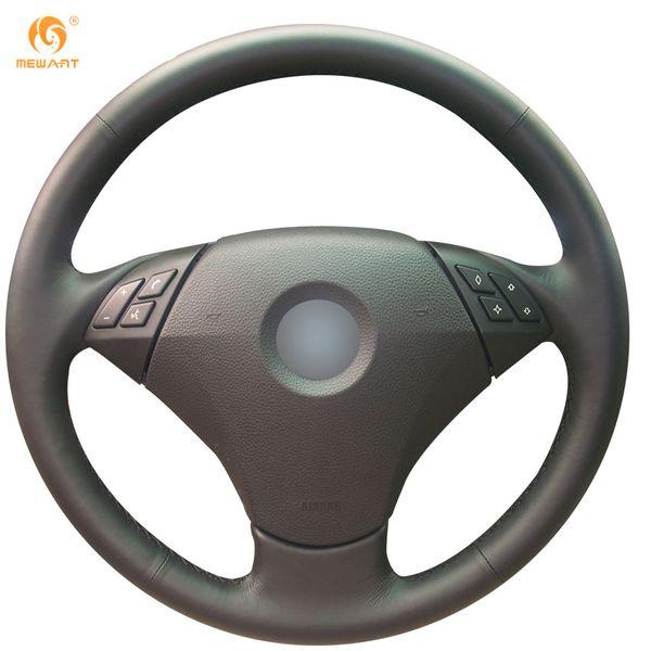 Mewant черный подлинная кожаный руль обложка для BMW 520li 523li 523 525 530 535 Е60 545i