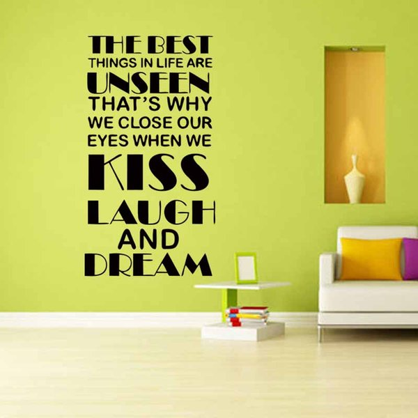 The Best Things In Life Are't Things Vinyl Wall Lettering Sticker Saying Words Art Decal Decals Murals DIY