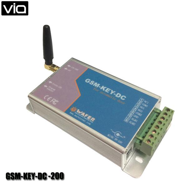 Toptan-VIA GSM-KEY-DC200 Ücretsiz Kargo GPRS Sunucu Desteklenen Sürgülü Kapı GSM Güvenlik Uzaktan Erişim Açacağı Max 200 Çalışma