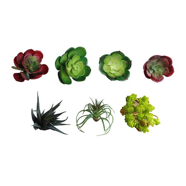 Plantes succulentes en gros-artificielles Terrain Lotus Plantes Herbe Désert Artificielle Plante Paysage Faux Arrangement de Fleurs Jardin Décor Home Office