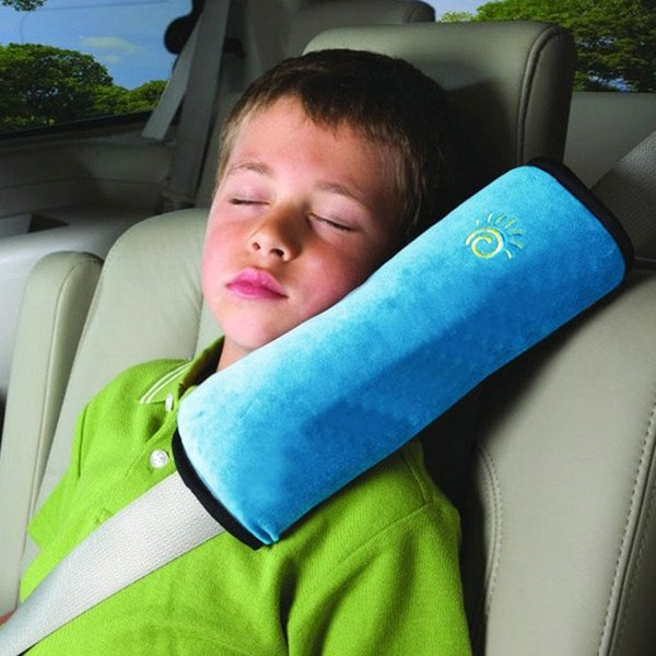 children car seat belt cover cushion kids soft sleep pillow shoulder harness pad faux suede high