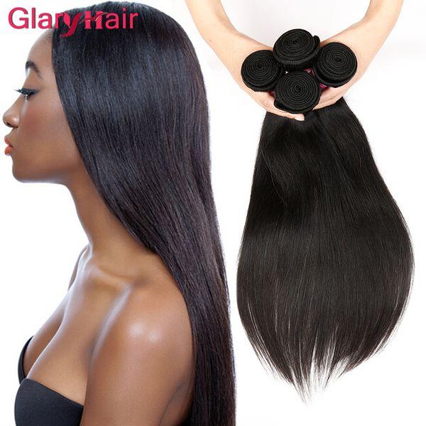 Super Nice Straight Weave Human Hair Extensions Brazilian Malaysian Peruvian Indian Virgin Hair Bundle Deals 8a Unprocessed Hair Weave Wefts