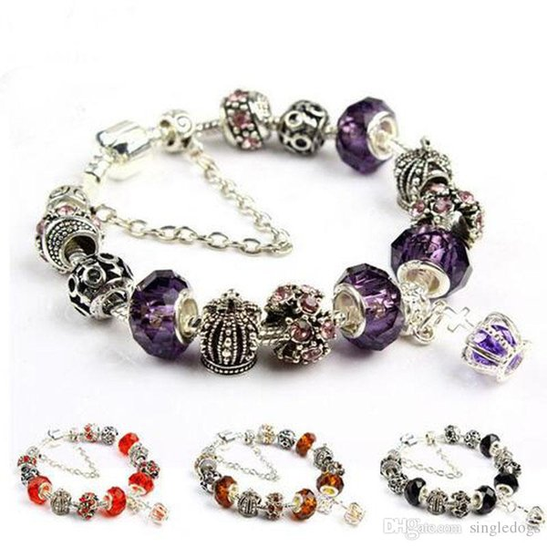 Cheap Crystal Beaded Pearl Infinity DIY Charm Bracelets Retro 8 Styles Anklet Vintage Accessories For Women Girls Gifts Free Shipping