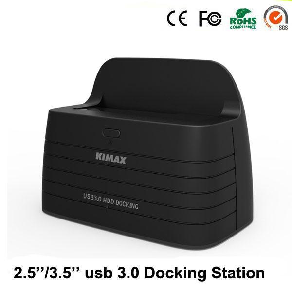 Wholesale- Docking station hd 1-Bay per USB 3.0 external sata rack case for SATA Hdd box up to 6TB 2.5'' 3.5'' hdd bracket
