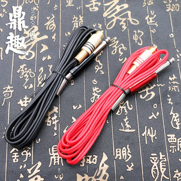 Free Shipping Silicone RCA Tattoo Power Clip Cords 2 Colors Supply For Ink Machine Guns Needle Kits Pro TPS5130