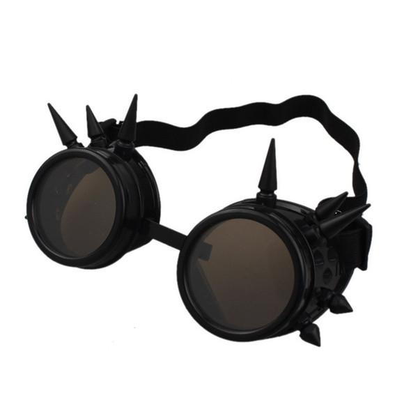 wholesale-Durable lunette de soleil Rivet Steampunk sunglasses women Windproof for oculos Mirror Vintage Gothic Glasses oculos luneta