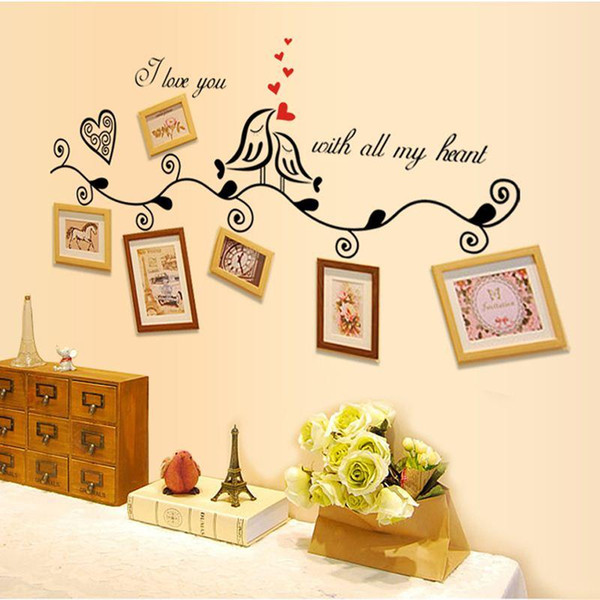 Free Dhl I Love You With All My Heart Birds Love Wedding Decoration ...
