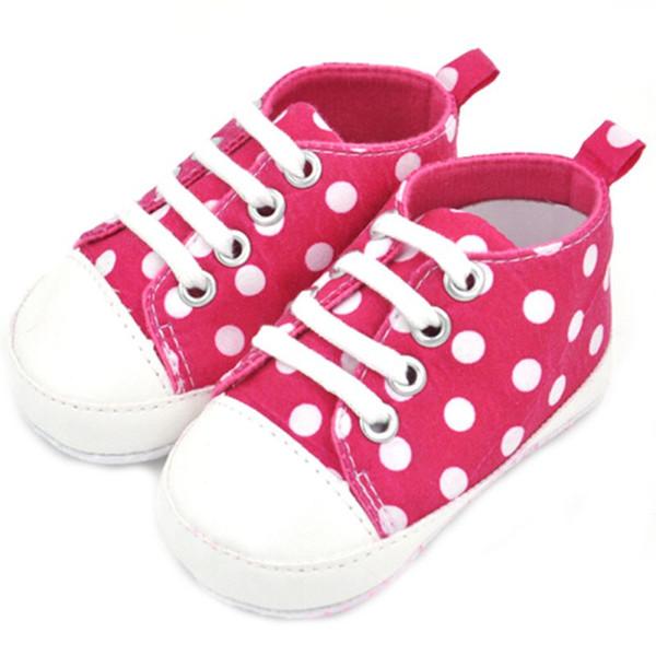 Vente en gros - Vente chaude Marque Nouveau mignon Infant Confortable Toddler Bébé Garçon Fille Soft Shoes Sneaker Toile chaussures