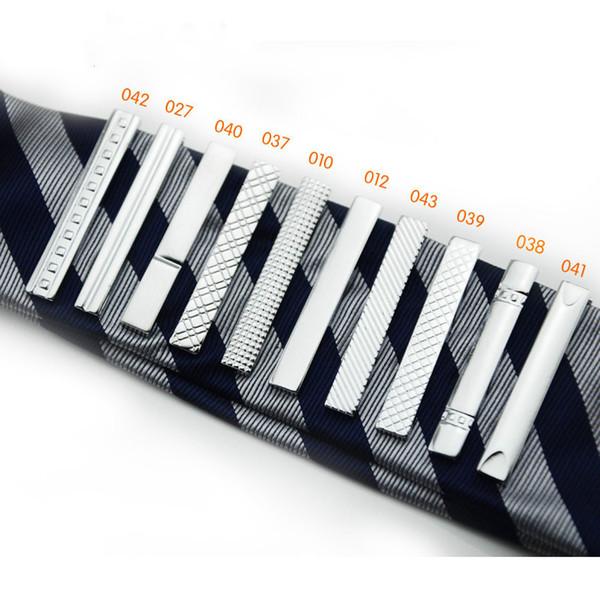 Clipes de gravata de metal prata dos homens 30pcs / lot frete grátis