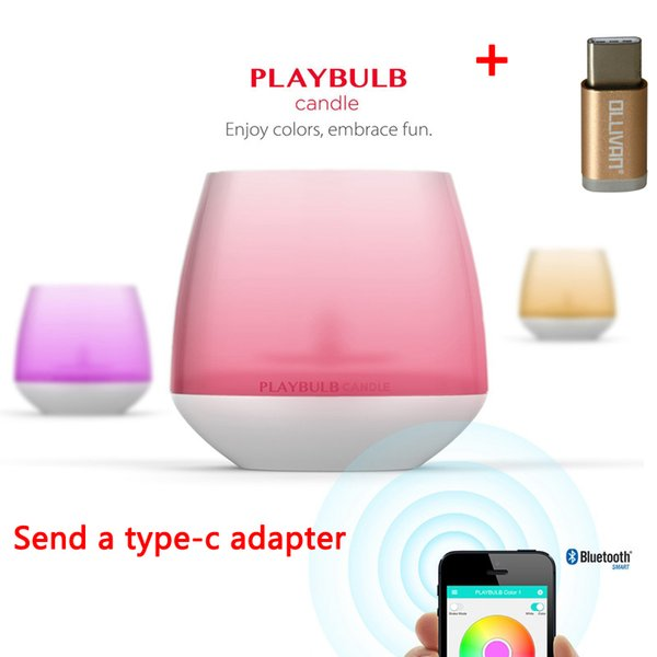 Wholesale MIPOW Playbulb Smart Bluetooth LED Candle Light Home Wireless  Aromatherapy Nightlight Changeable Colors With