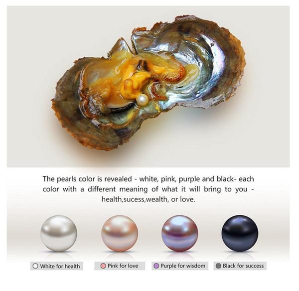 6-7mm bianco rosa viola nero Acqua dolce Oyster Perla Ovale naturale Rotondo Regalo Perle fai da te Decorazioni sciolte Confezionamento sottovuoto Commercio all'ingrosso
