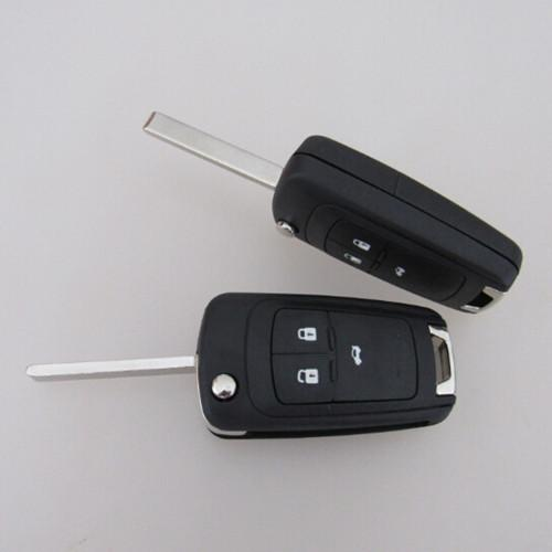 Replacement flip folding remote key shell case for Opel Vauxhall Corsa Astra 3 button key blank cover 15pcs/lot