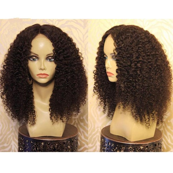 180 Density Afro Kinky Curly Full Lace Wigs With Baby Hair 9A Pre Plucked Brazilian Virgin Lace Front Human Hair Wigs Black Women