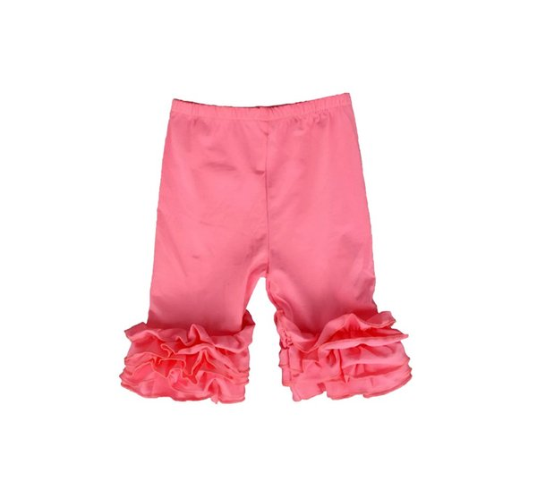 67c63497cef07 2016 Time-limited Special Offer 4t Wholesale Kids Fall Icing Ruffle Capris  Pants Baby Girl