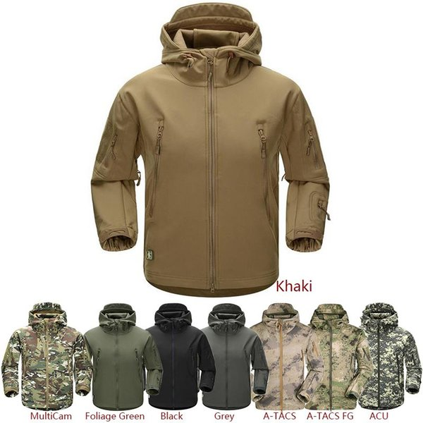 ESDY Outdoor Jacket Coat Water-resistant Luker TAD Shark Skin Soft Shell Hoodie Military Airsoft Camping Hiking Clothing Tad army 2017