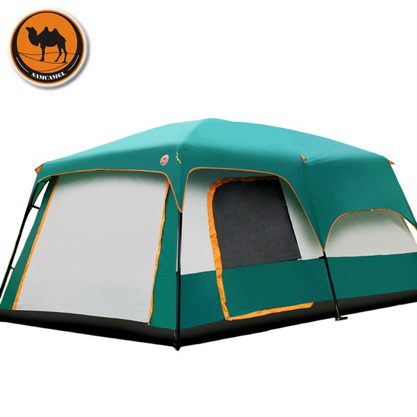 cheap for discount 80500 1028c Wholesale The Camel Outdoor 6/7/8/9/10 12 People Camping 4season Tent  Outing Two Bedroom Tent Big Space High Quality Camping Tent Humane Shelter  ...