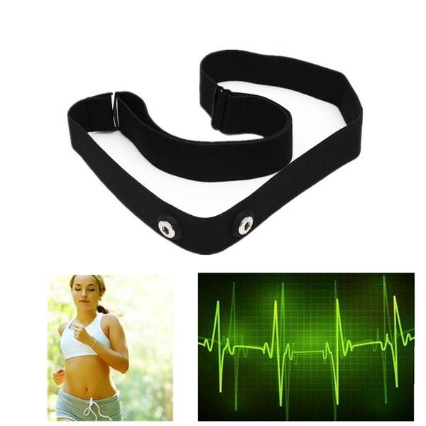 Atacado-Silica Gel Fibra Sem Fio Bluetooth Controle Elastic Chest Belt Strap Para Garmin Wahoo Sport Polar Heart Rate Monitr Assista