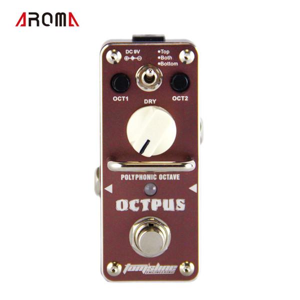 Nuovo e ORIGINALE AROMA AOS-3 OCTPUS effetto ottava polifonico Mini effetto digitale True Bypass
