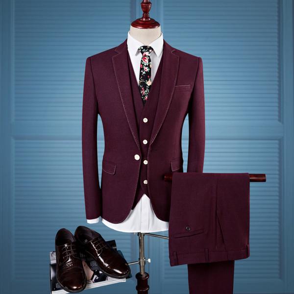 Men Suit 2017 Latest Jacket Vest Pant Prom Mens Men Suit Dress ...
