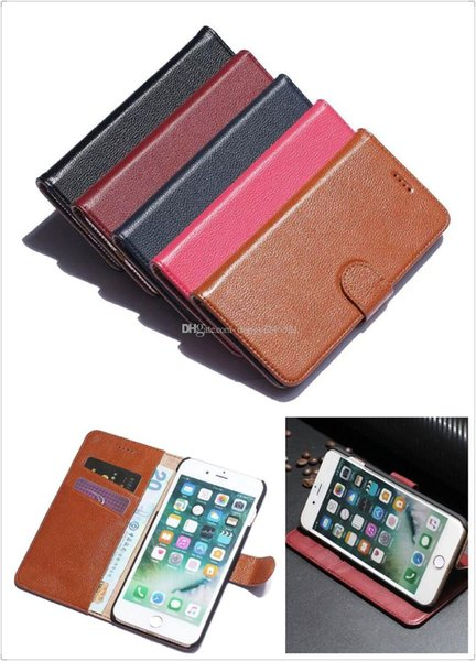 For iPhone 7 6S 6 Genuine Leather Wallet Zipper Phone Cases Stand Wallet Folded with Card Slot cover For iphone 7 plus