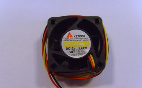 Y.S.TECH NFD124020BB-2F 4020 1.44W 12V 3 wire CPU power supply fan