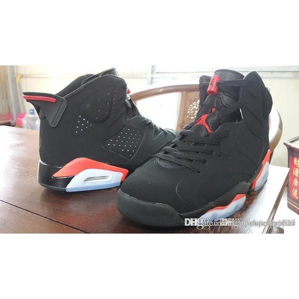 competitive price 15230 80b00 2018 Jordan Top Quality Air Retro A Retro 6 Infrared Black Infrared 23  Black 384664 023 Size 8 Jordans Retros 6s Infrared 2014 With Box From ...