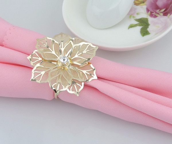 Wholesale-12pcs/lot Exquisite high-end hotel restaurant dedicated napkin ring mouth cloth napkin ring napkin ring seat ring