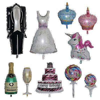 10 Stil! Düğün parti Parti Dekor dekorasyon Kek / Elbise / Smokin / Cam / Şişe Folyo Balon Düğün Doğum Günü