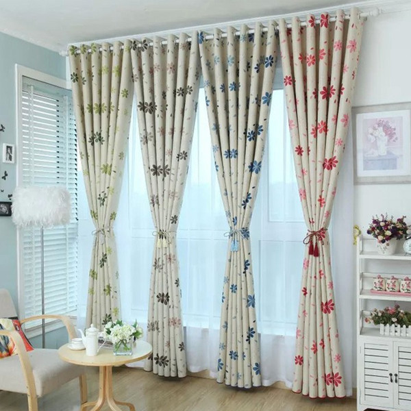 2019 New Design Home Textile Window Curtains Pastoral Style Floral Printed Girls Bedroom Drapes Sun Proof Curtains Ji0296 From Smileseller2010 1734