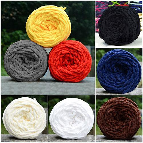 top popular 1pc Colorful Dye Scarf Hand-knitted Yarn For Hand knitting Soft Milk Cotton Yarn Thick Wool Yarn giant wool blanket 2021