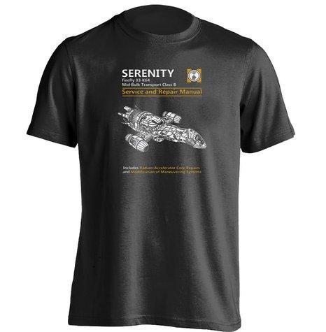 Al por mayor- Serenity Service Repair Manual Firefly Mens Womens personalizada camiseta