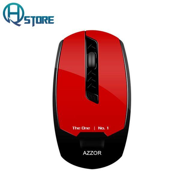Al por mayor-AZZOR Ratón inalámbrico recargable U8 Slient botón Build-in batería de litio 2400 DPI Computer Gamer Silence alto rendimiento