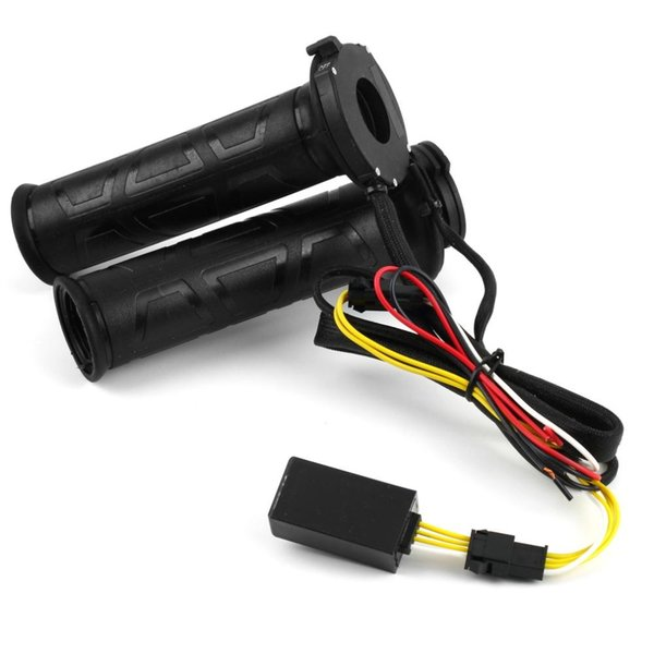 "Black 7/8"" motos Motorcycle handlebar Electric Hot Heated Grips Handle Handlebar Warmer manillar motocicleta"