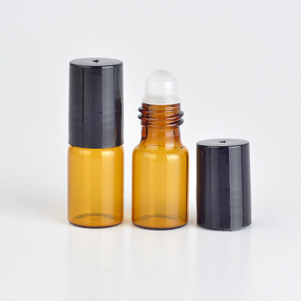 1080pcs/lot 3ML Mini Refillable Bottle Amber Roll on Roller Bottles for Essential Oils Refillable Perfume Bottle Container On Promotion !