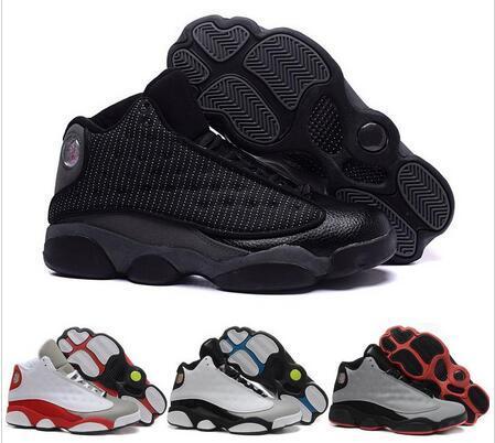 Al por mayor Barato 13 Zapatos de Baloncesto Hombres 2016 Botas de Corte Alto de Alta Calidad Todos los Zapatos Deportivos negros Zapatos Deportivos Envío Gratis 41-47