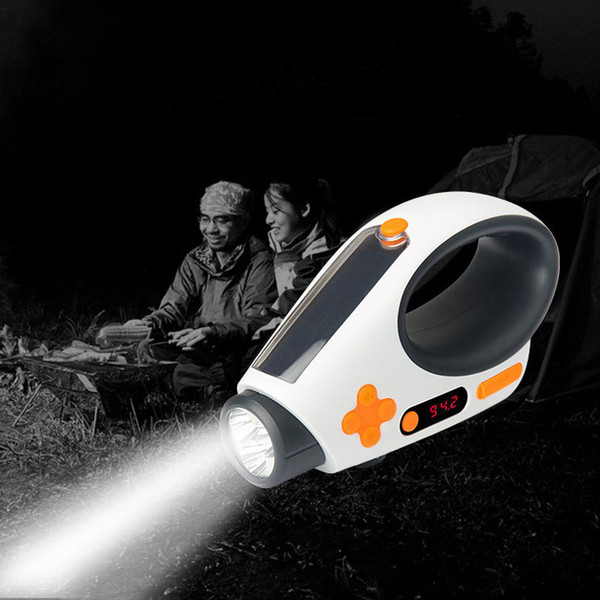 High end Flashlights Solar Hand Crank Dynamo Powered LED Light Manual Electricity Generation FM/AM Radio Torches Phone Charger Portable