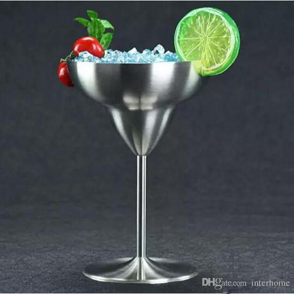 10pcs Stainless Steel Cocktail Drinking Cups Wine Cup Champagne Wedding glass Martini Cup whiskey Goblet Cocktail