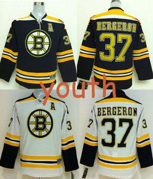 lowest price 63015 69296 2019 Cheap Kids Bruins Bergeron Jerseys Youth #37 Patrice Bergeron Jersey  Home Black Road White Boy Bergeron Stitched Jerseys A Patch From B38326411,  ...