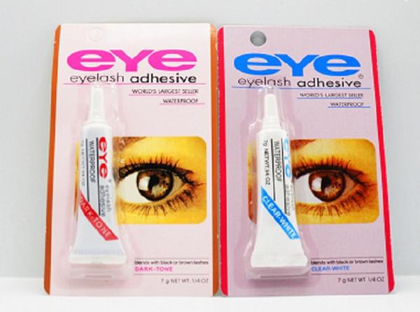 professional 100pcs Eye Lash Glue Black White Makeup Adhesive Waterproof False Eyelashes Adhesives Glue White And Black Available