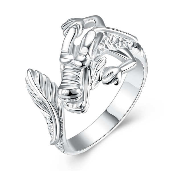 Free shipping Wholesale 925 Sterling Silver Plated Fashion Tap ring - Opening Jewelry LKNSPCR054