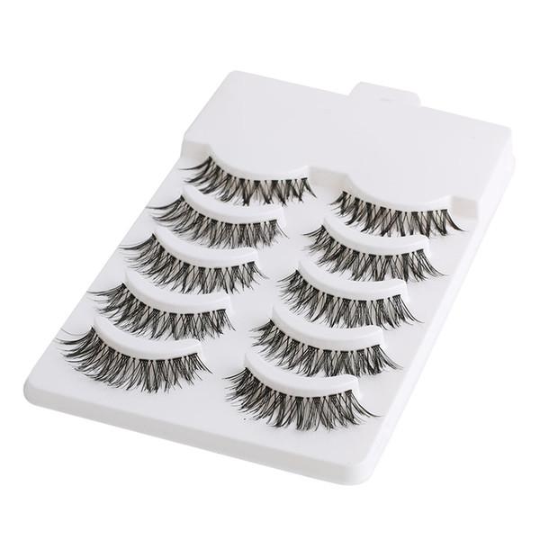 5 Pairs Beauty Makeup Mini Half Corner Black False Eyelashes Natural Eye Lashes Cosmetics